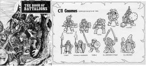 Images of early Citadel Gnomes are hard to come by. The Book of Battalions included some information on Gnomes.