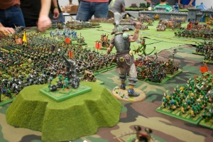 The greenskin horde advances on the city walls.