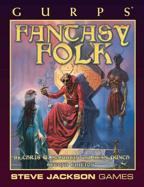GURPS Fantasy Folk Steve Jackson Games Tabletop Roleplaying rpg Monsters