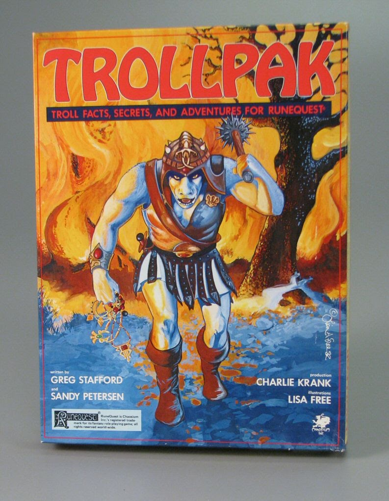Trollpak Chaosium RungeQuest Glorantha tabletop roleplaying rpg troll