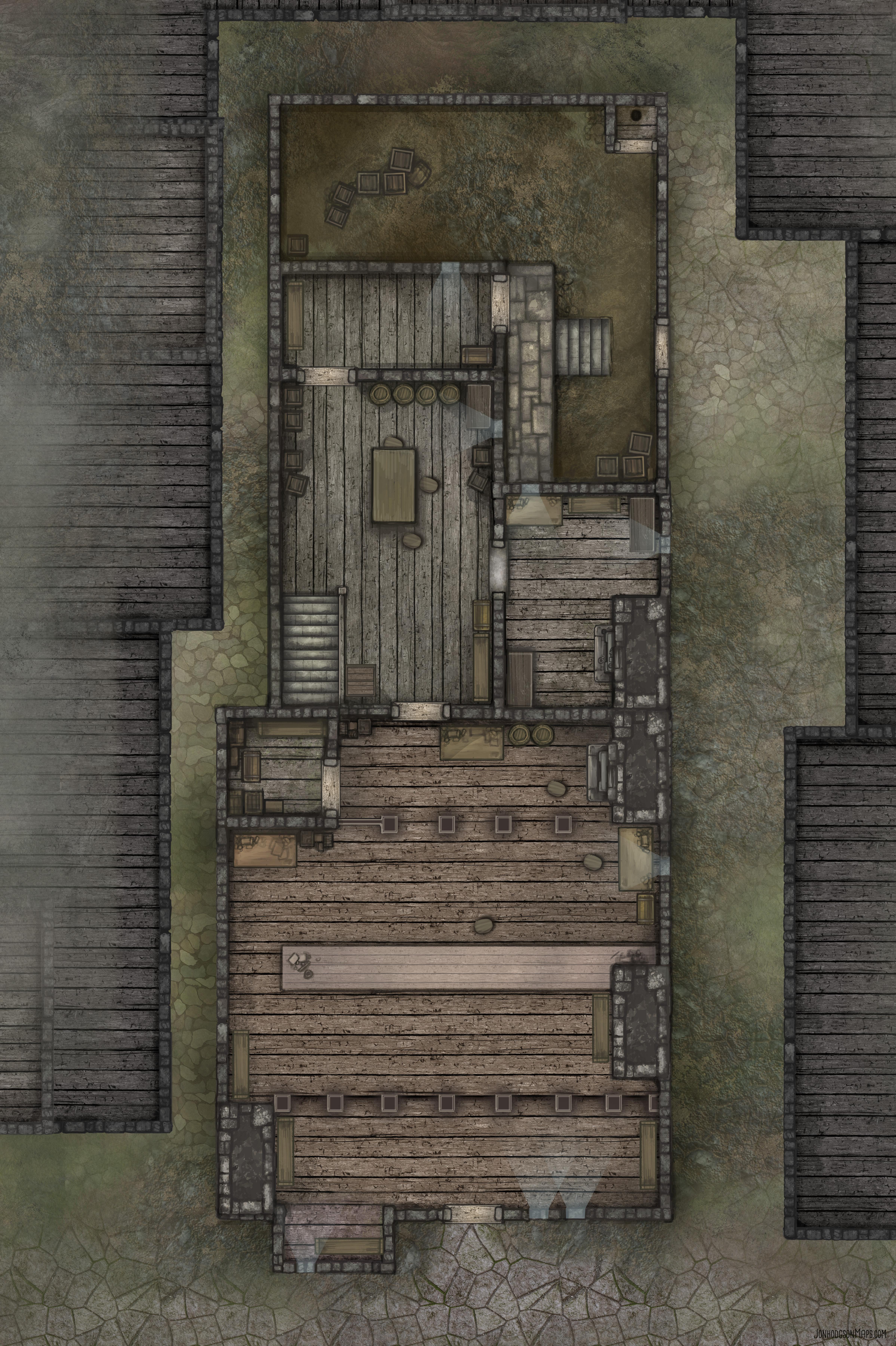 Shop Downstairs Map Plain